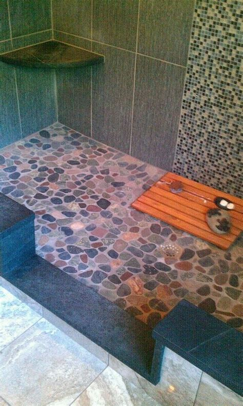 1000 ideas about river rock shower on pinterest rock 1000 ideas about river rock floor on pinterest diy
