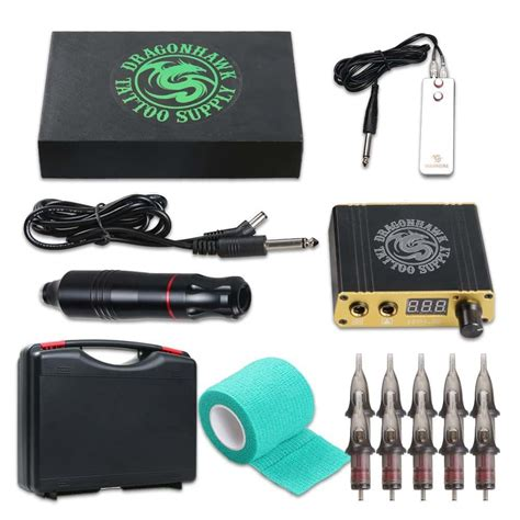 amazon tattoo kit dragonhawk cartridge machine kit pen rotary