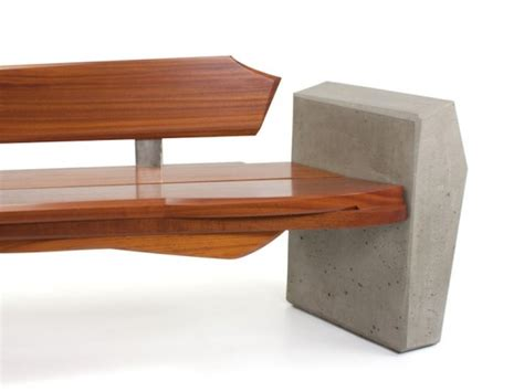 modern outdoor benches contemporary and sleek yet natural outdoor bench by nico