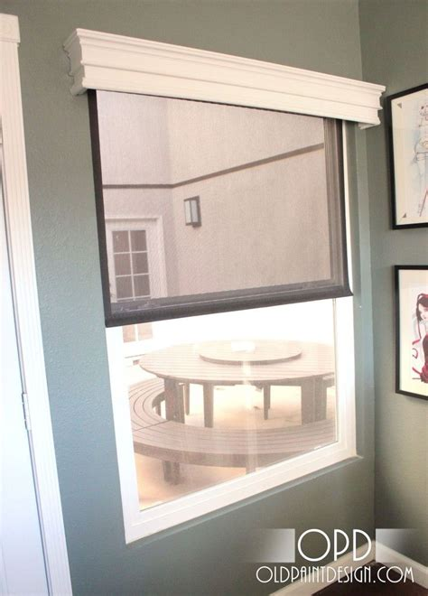 Roller Shades For Windows Designs Wood Valance To Hide Roller Blind Dining Room Maybe For The Home Pinterest Front Windows