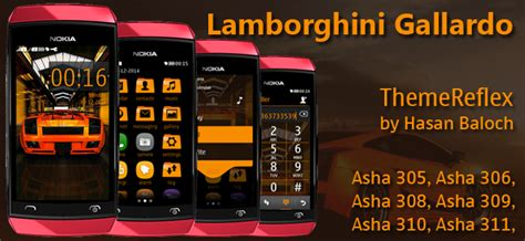 lamborghini themes for nokia c3 orange theme themereflex