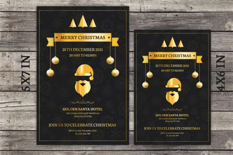 15  Christmas Party Invitation Flyer Templates   Graphic Cloud