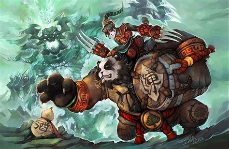 Fondos de Pantalla World of WarCraft Oso pandas Guerrero