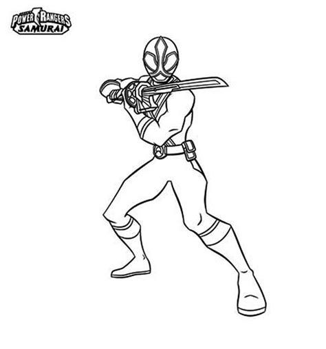 Red Samurai Ranger Free Coloring Pages Power Rangers Samurai Coloring Pages