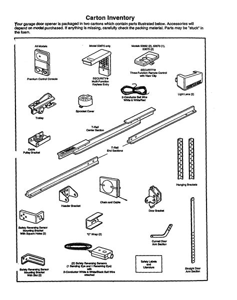 clopay garage door parts list craftsman garage door opener parts diagram efcaviation