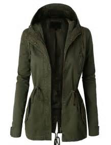 womens anorak jacket with and drawstring waist
