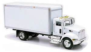 Peterbilt 335 box delivery truck die cast diecast model truck 1 43
