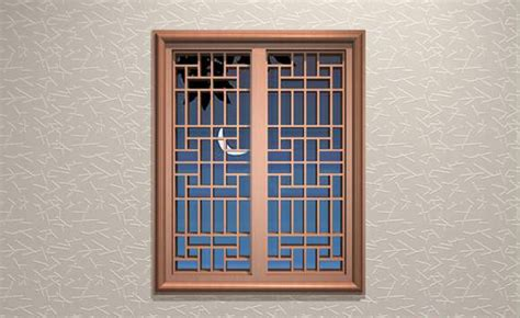 ancient chinese lattice window  model dsmax files