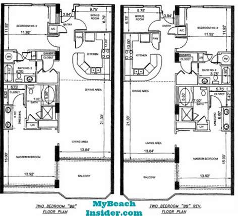 bunk room floor plans boardwalk resort floor plans panama city florida