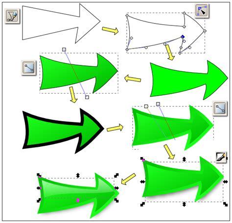 inkscape tutorial draw arrow nicu s foss n stuff inkscape shiny arrow redundant