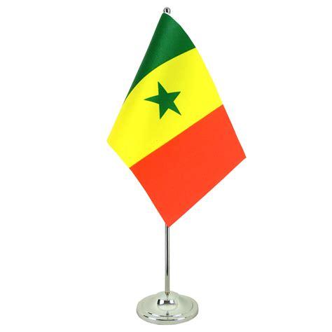 drapeau de table prestige s 233 n 233 gal chrom 233 monsieur drapeaux