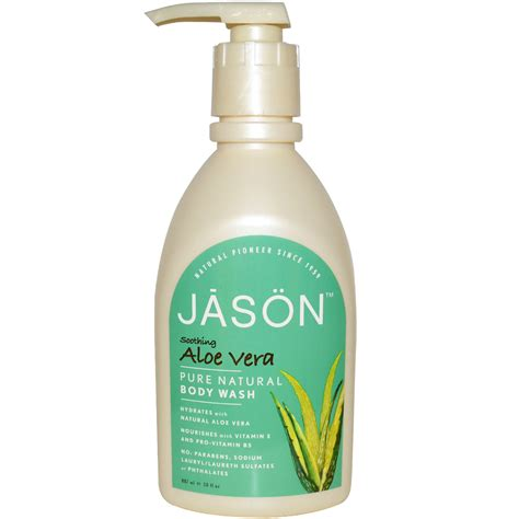 Jason Natural, Pure Natural Body Wash, Soothing Aloe Vera