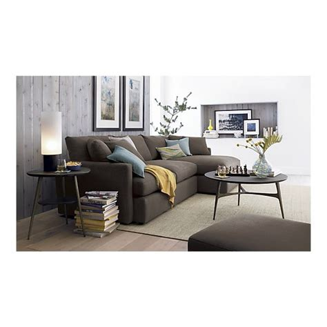lounge sectional crate and barrel steppe nightstand sectional sofas crate and barrel and