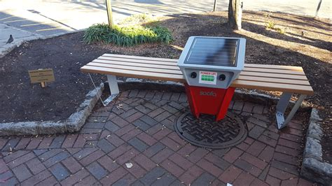 new bench south orange unveils soofa mobile charging bench the village green