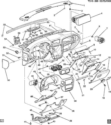 2006 chevy trailblazer parts diagram interior dash part number help needed chevy trailblazer