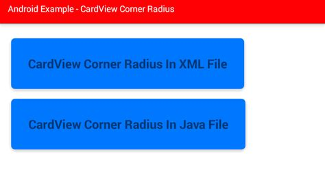 android layout corner radius android how to set cardview corner radius