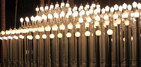 Lights In La by Lights At The Lacma La County Museum Of 0766 By Edward