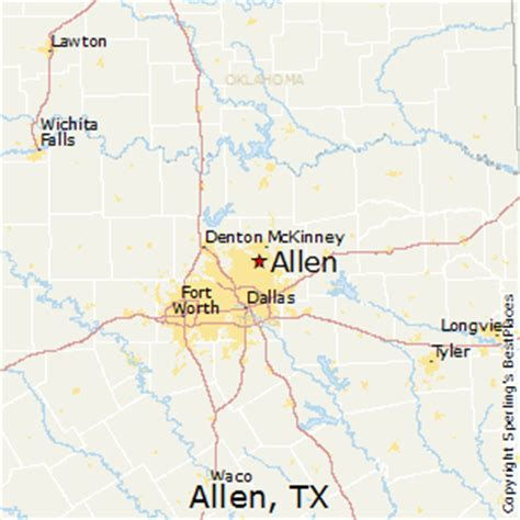 where is allen texas map best places to live in allen texas