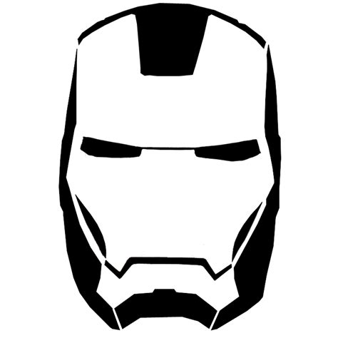 ironman head outline clipart best