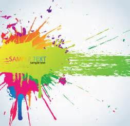 Cymk Puzzle colorful paint splats vector background free vector