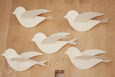 How To Make Flying Bird With Paper - best photos of paper bird with wings template flying
