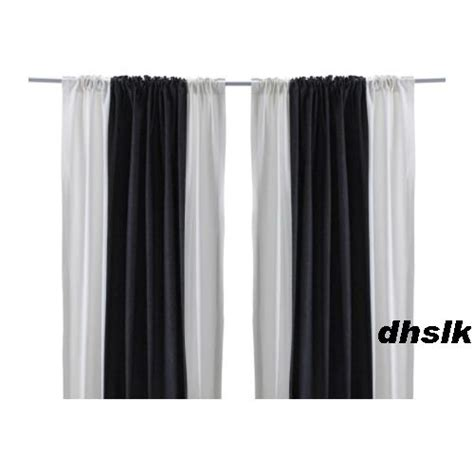 ikea striped curtains ikea hedda rand drapes curtains bold stripe black white