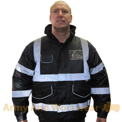 Jacket Boomber Waterproof 7 id patch badge hi viz waterproof padded bomber jacket security coat warm mens ebay