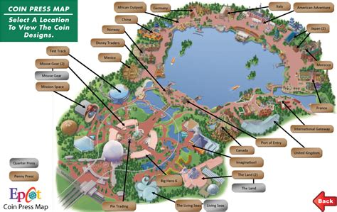 map of epcot map epcot