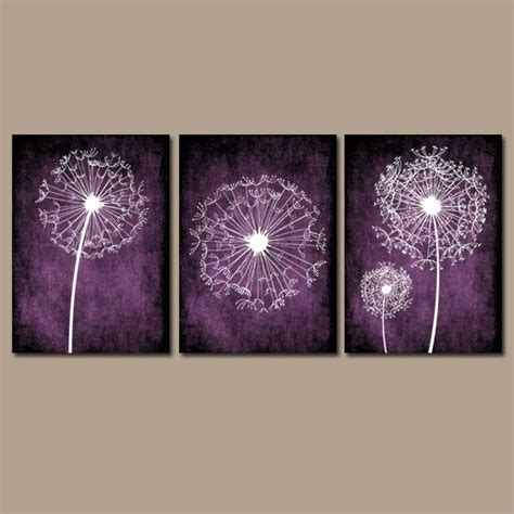 purple bathroom wall art dandelion wall art purple bedroom canvas or prints bathroom