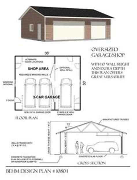 Carport Plans 1040 by Garage With Shop Plan 1040 2 40 X 26 By Behm Design