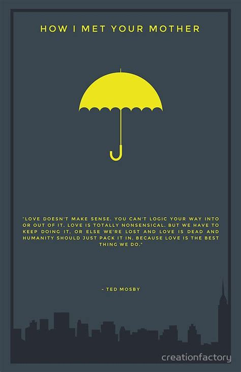 Wedding Umbrella Quotes by How I Met Your Yellow Umbrella Print Ted