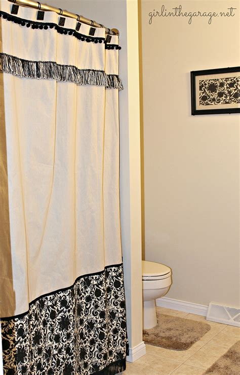 diy bathroom curtains diy custom shower curtain girl in the garage 174