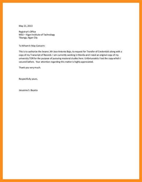 sle of authorization letter in authorization letter writing sle 28 images how to