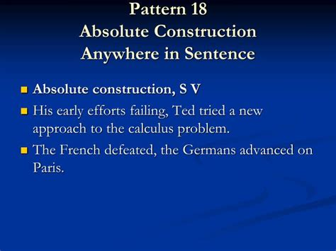 sentence pattern in french ppt the art of styling sentences powerpoint presentation