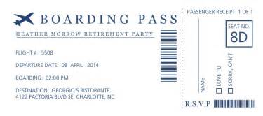 free boarding pass invitation template retirement invitations boarding pass retirement