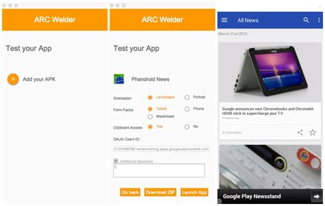 chrome app android arc welder lets you run android apps in chrome