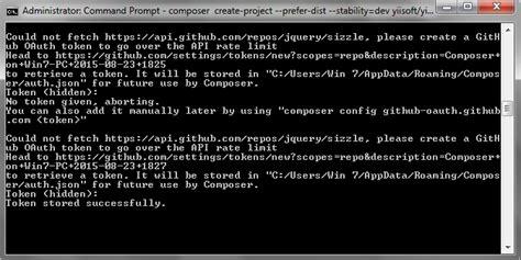 yii composer tutorial php framework install yii 2 di windows via composer scode