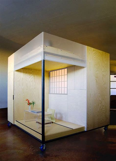 tiny zen living 8 foot square mobile cube combines office bed meditation treehugger