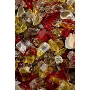 Fireplace Glass Rocks Home Depot by Firecrystals 30 Lbs Rustic Glass Value Pak