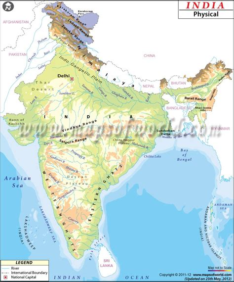 physical map different types of maps of india bragitoff