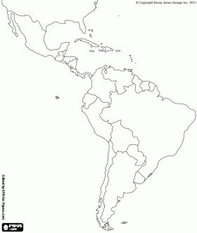 latin america map coloring pages map of latin america latin america is made up of mexico