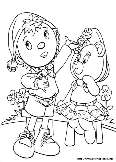 noddy coloring picture noddy pinterest