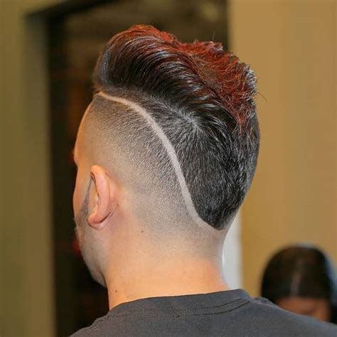 men hairstyles with lines fade haircut top 30 mohawk fade hairstyles for men