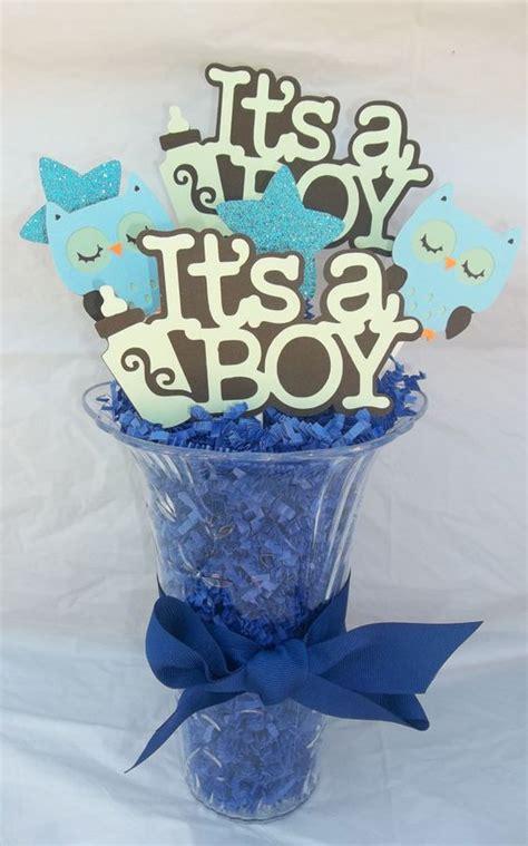 It S A Boy Centerpiece Baby Boy Baby Shower Owl Themed Diy Boy Baby Shower Centerpieces