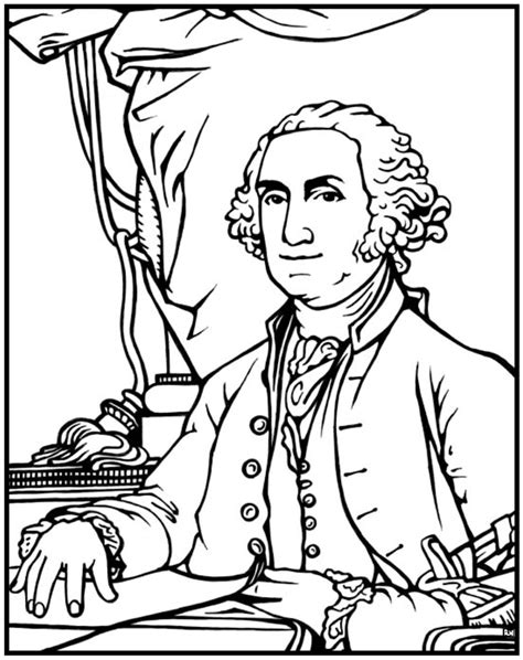 george washington coloring page for kindergarten george washington coloring page purple kitty