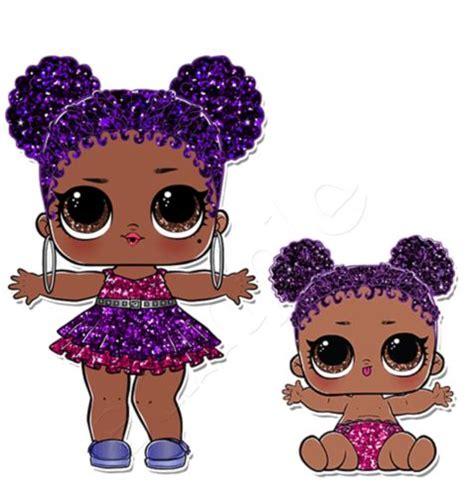 Lol Series Glitter Lol Glitter Lol Doll Iron On Transfer Lol Doll Dolls Purple