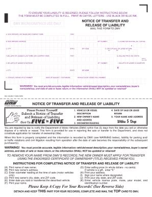 2009 Form Ca Dmv Reg 138 Fill Online Printable Fillable Blank Pdffiller Release Of Liability Form Template California