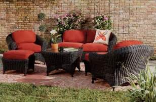 Living Home Outdoors Patio Furniture Martha Stewart Living Lake Adela Six Seating Set Contemporary Outdoor Lounge Sets