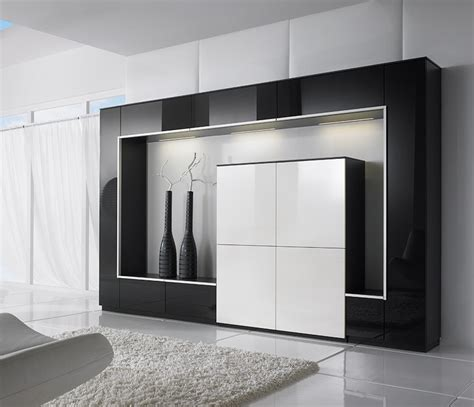 Living Room Storage Cabinet | luxury wall units and media systems wharfside furniture