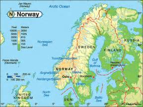 World Map Norway by Norwegian Physical Features Submited Images
